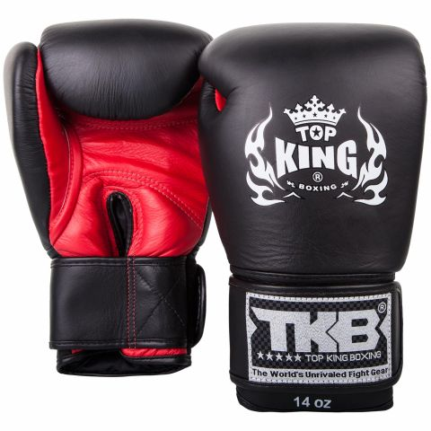 Gants de boxe Top King - Noir/Rouge