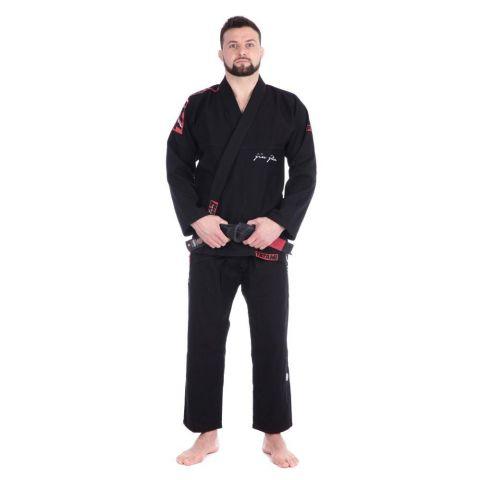 Kimono de JJB Tatami Fightwear Red Bar - Noir
