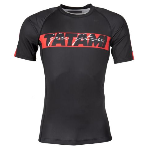 Rashguard Tatami Fightwear Red Bar - Manches Courtes - Noir