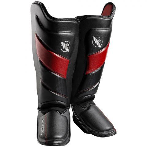 Protège-tibias Hayabusa T3 - Noir/Rouge