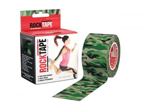 Bande Kinésiologie Rocktape™ 5cm X 5m - Vert Camouflage