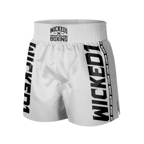 Short de boxe Wicked One - Blanc