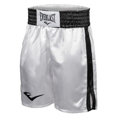 Short de boxe Everlast Competition - Blanc/Noir