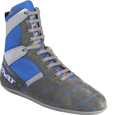 Chaussures de boxe française Rivat Top - Gris/Bleu
