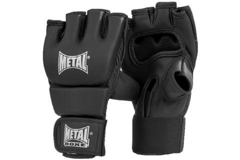 Gants combat libre Metal Boxe Black Light - Noir