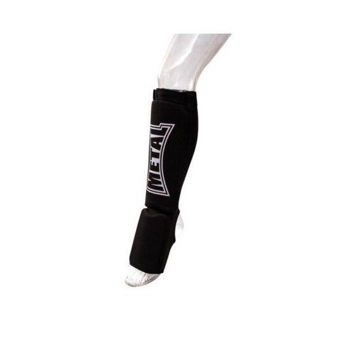 Protège-Tibias et coup de pieds Coton Metal Boxe - Noir