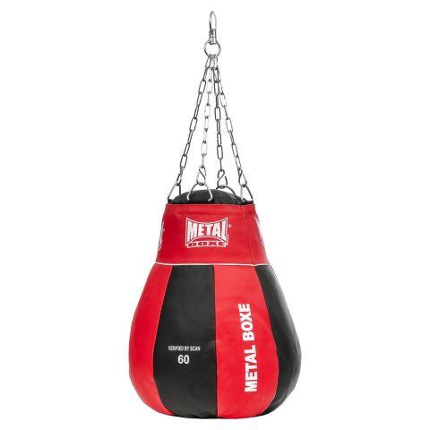 Poire à Uppercut Metal Boxe - Noir/Rouge - Plein - 60 cm