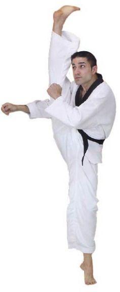 Dobok Fuji Mae Master Col Noir - Toile côtelée