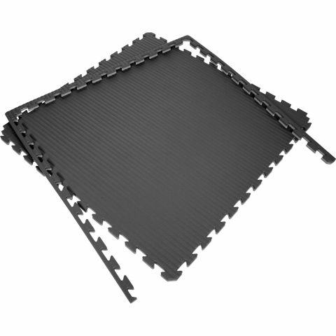 Tatami Puzzle 100x100x2cm (x10) - Noir/Gris