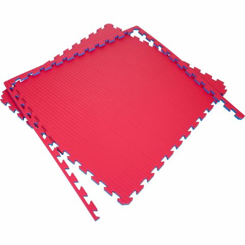 Tatami Puzzle 100x100x4cm (x5) - Rouge/Bleu