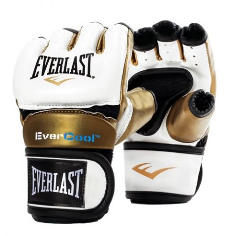 Gants de MMA Everlast Everstrike - Blanc/Or