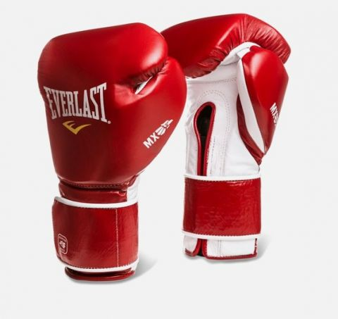 Gants de boxe Everlast MX Hook & Loop - Rouge/Blanc
