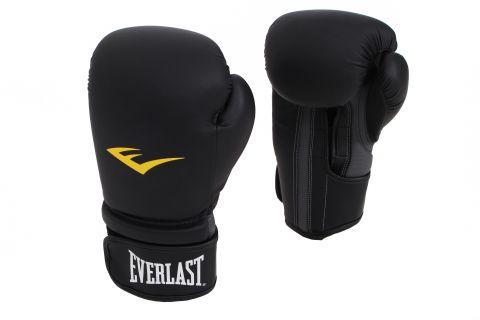 Gants de boxe Everlast PU - Noir Mat