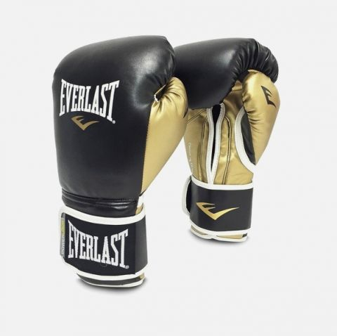 Gants de boxe Everlast Powerlock - Noir/Or