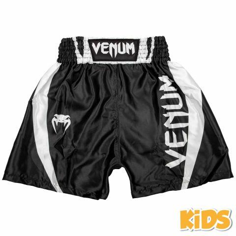 Short de boxe Enfant Venum Elite Kids - Noir/Blanc
