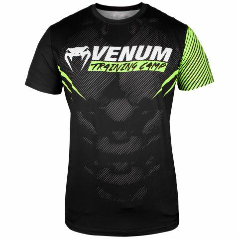 T-shirt Dry Tech Venum Training Camp 2.0 - Noir/Jaune fluo - Exclusivité