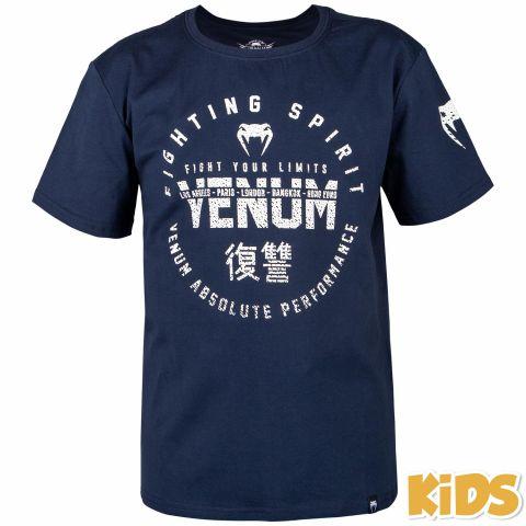 T-shirt Enfant Venum Signature Kids - Bleu Marine