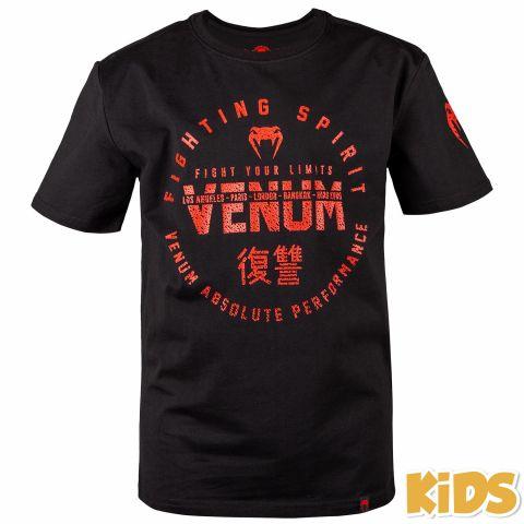 T-shirt Enfant Venum Signature Kids - Noir/Rouge