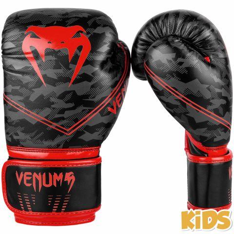Gants de boxe Enfant Venum Okinawa 2.0 - Noir/Rouge
