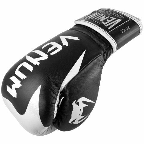 Gants de boxe pro Venum Hammer - Velcro - Noir/Blanc