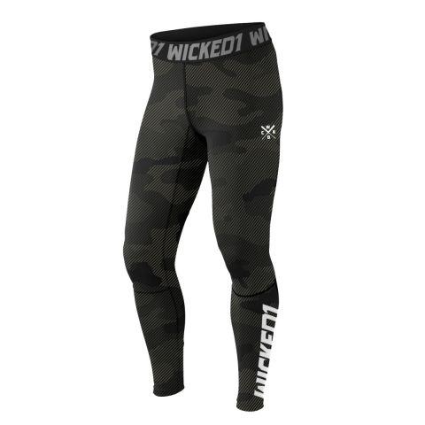Pantalon de compression Wicked One Line - Noir/Kaki