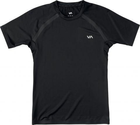 T-shirt de compression RVCA - Manches Courtes - Noir