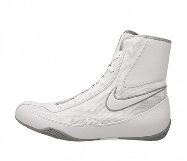 Chaussures de boxe semi-montantes Nike Machomai 2 - Blanc/Noir