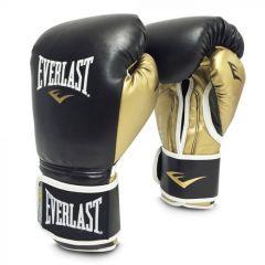 Gants de boxe Everlast Powerlock Training - Noir/Or