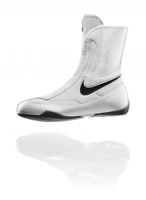 Chaussures de boxe Nike semi montantes Machomai Blanc