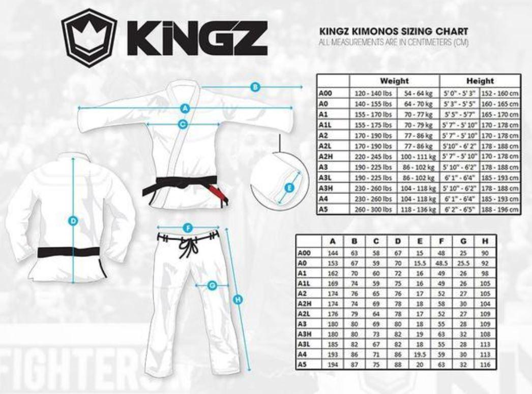 Guide des tailles Kingz