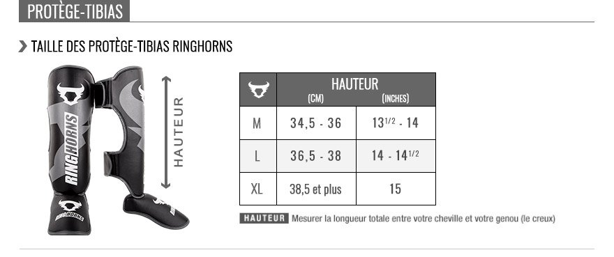 Guide des tailles Ringhorns